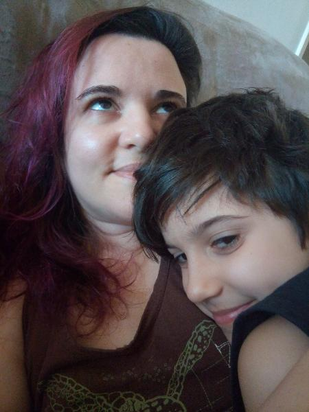 Paula com o filho, Miguel - Arquivo pessoal