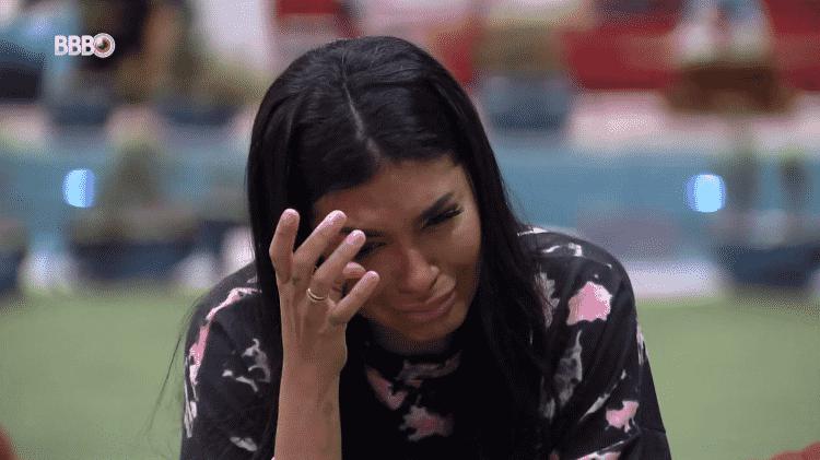 BBB 21: Pocah chora em conversa com Arthur - Reprodução/Globoplay - Reprodução/Globoplay