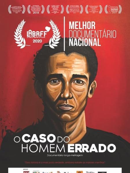 """Júlio César de Melo Pinto estampa o cartaz de """"O Caso do Homem Errado"""", filme de Camila de Moraes - Reprodução"""