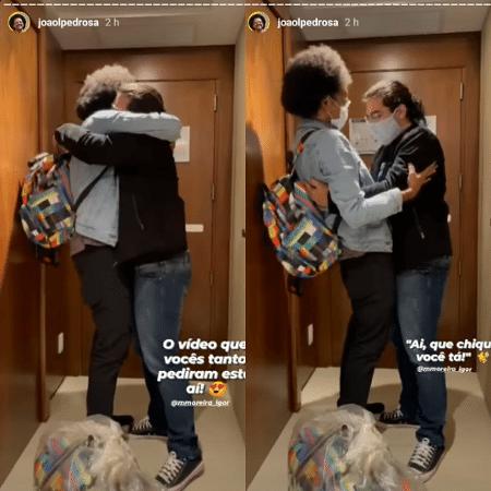 BBB 21: João Luiz mostra reencontro com o namorado Igor - Reprodução/Globoplay