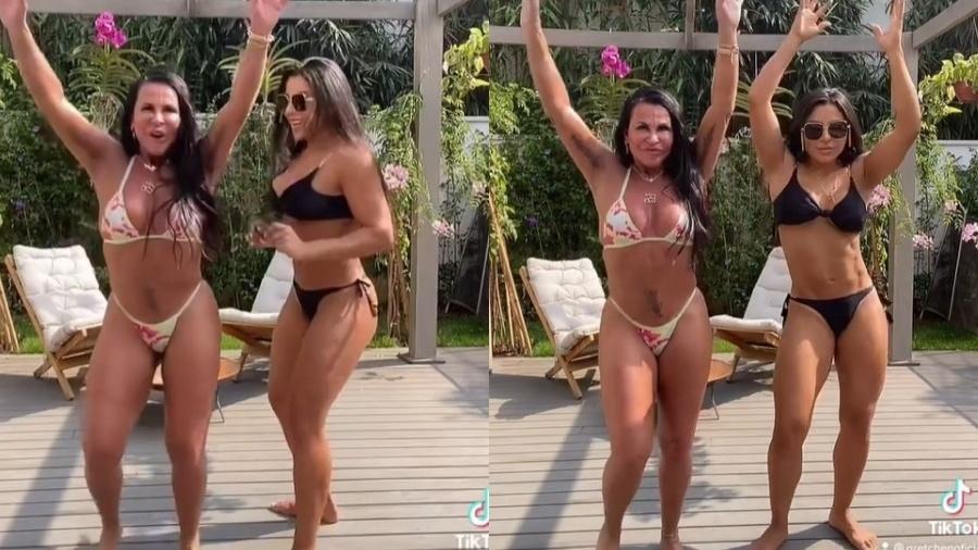 Gretchen dança de biquíni ao lado de Andressa Ferreira - Reprodução/Instagram