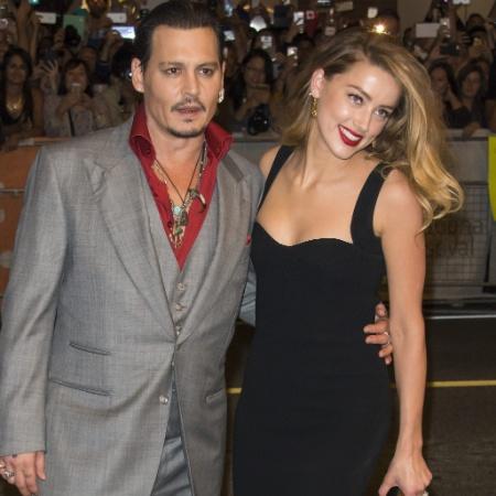 Os atores Johnny Depp e a Amber Heard - Warren Toda /EFE