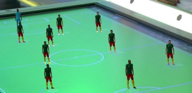 Mesa tática usada nas transmissões de futebol, na Globo - Reprodução/TV Globo