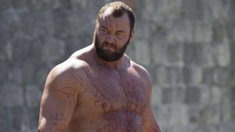 """O islandês Hafbor Júlíus Björnsson, o Montanha de """"Game of Thrones"""", tem 180 quilos e consome, diariamente, 12 mil calorias - Divulgação/HBO"""