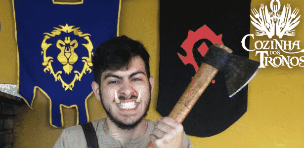 """O estudante Vinícius Caldas comanda o canal culinário Cozinha dos Tronos com receitas tiradas de """"Game of Thrones"""" - Divulgação/CozinhadosTronos"""