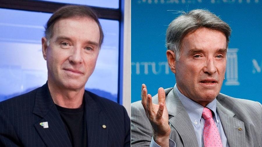À esquerda, Eike em 2009, um ano antes de fazer o procedimento conhecido como CNC; à direita, o empresário fotografado em 2012, já com o topete  - Montagem/UOL