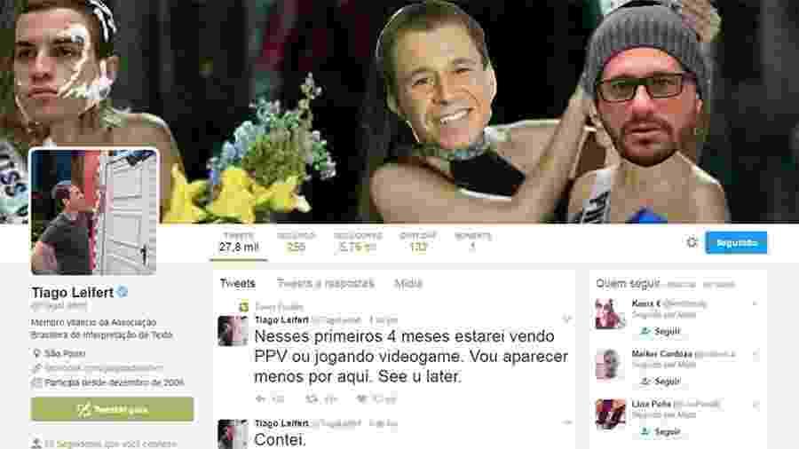 Tiago Leifert brinca e coloca meme com a vitória de Daniel na prova do líder como sua capa no Twitter - Reprodução/Twitter/TiagoLeifert