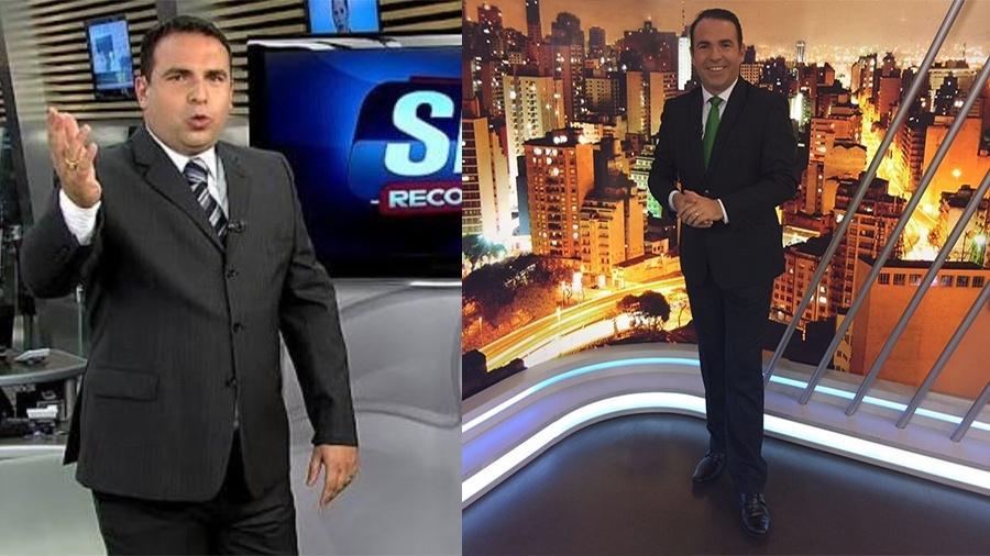 Reinaldo Gottino, em 2009, com 143 kg, e agora, com 110 kg - Arquivo Pessoal