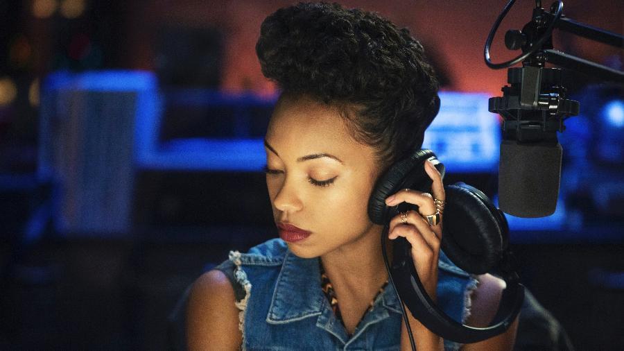 """A estudante universitária e ativista Sam White (Logan Browning) em cena de """"Cara Gente Branca"""", da Netflix  - Divulgação/Netflix"""