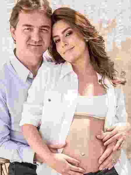 Ticiana Villas Boas ao lado do marido, Joesley Batista, durante a primeira gravidez - Reprodução/Instagram/tici_villasboas
