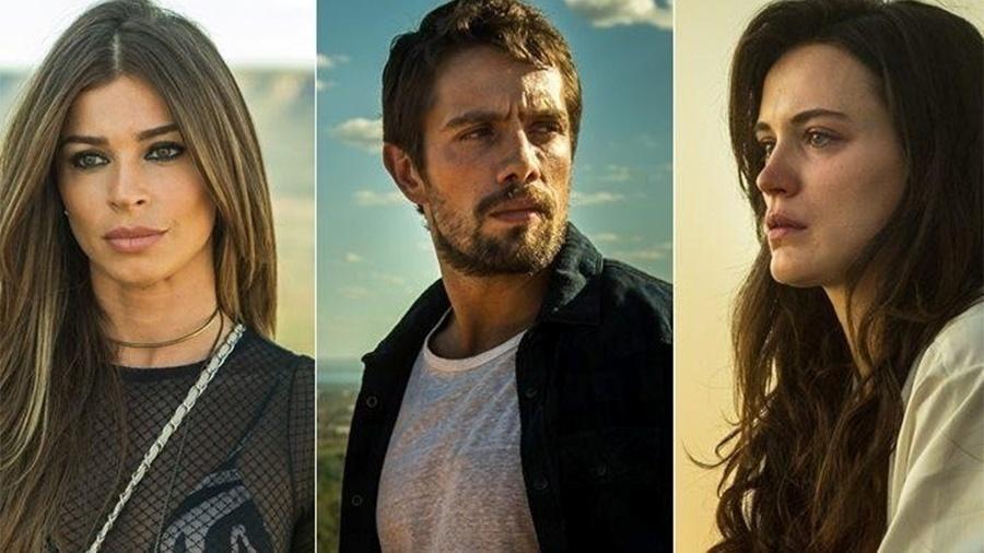 """Livia (Grazi Massafera), Renato (Rafael Cardoso) e Clara (Bianca Bin) em """"O Outro Lado do Paraíso"""" - Raquel Cunha/Divulgação/TV Globo"""