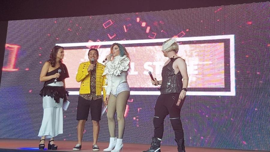 Penelopy Jean no palco do Digital Stage do Rock in Rio - Reprodução/Multishow