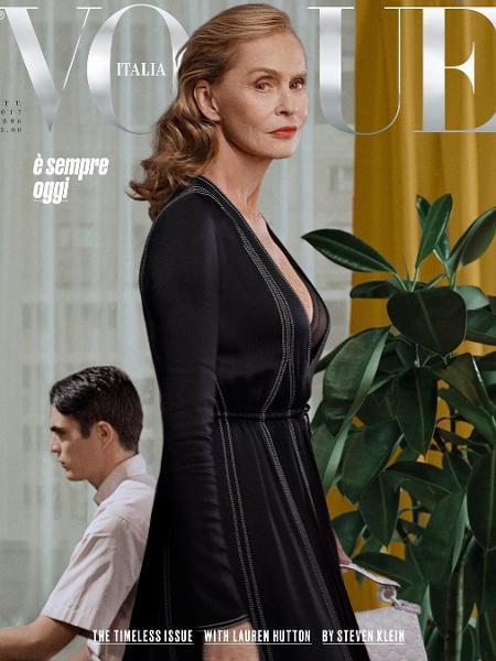 """Lauren Hutton na capa da """"Vogue"""" italiana - Reprodução/Instagram"""