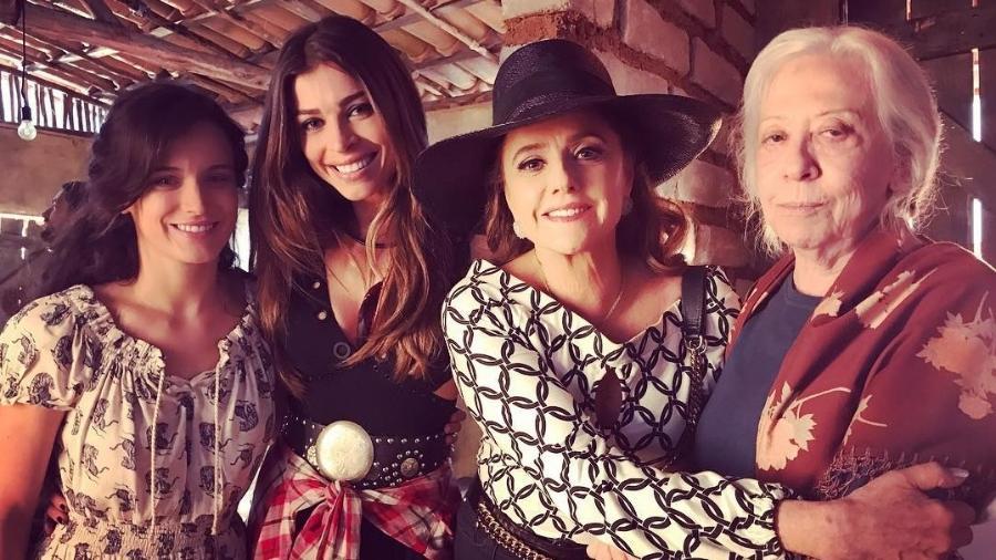 Bianca Bin, Grazi Massafera, Marieta Severo e Fernanda Montenegro - Reprodução/Instagram