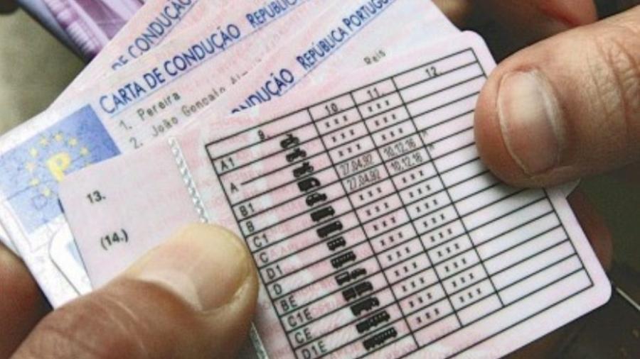 """""""Carta de condução"""", a CNH de Portugal, tem duração de até 15 anos, mas custa caro - Reprodução"""