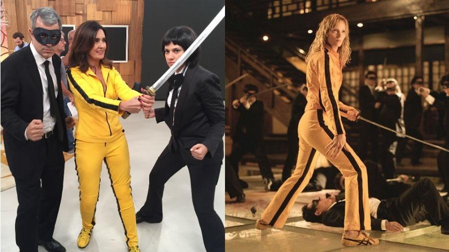 """Fátima Bernardes vira personagem de  Uma Thurman em """"Kill Bill"""" - Reprodução/Instagram/Divulgação"""