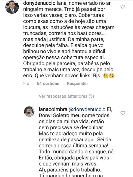 Dony De Nuccio pede desculpas à repórter Iana Coimbra no Instagram - Reprodução/Instagram/ianacoimbra - Reprodução/Instagram/ianacoimbra