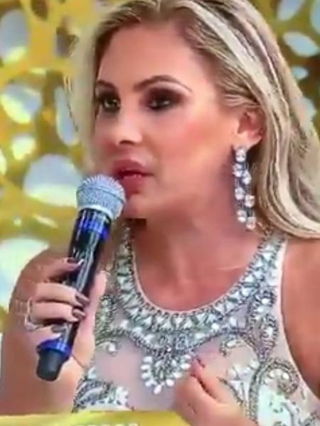 Ângela Bismarchi no Superpop - Reprodução/Rede TV!