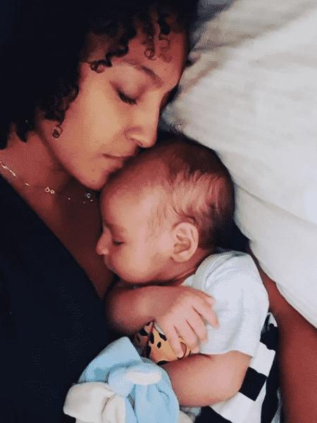 Sheron Menezzes com o filho, Benjamin - Reprodução/Instagram