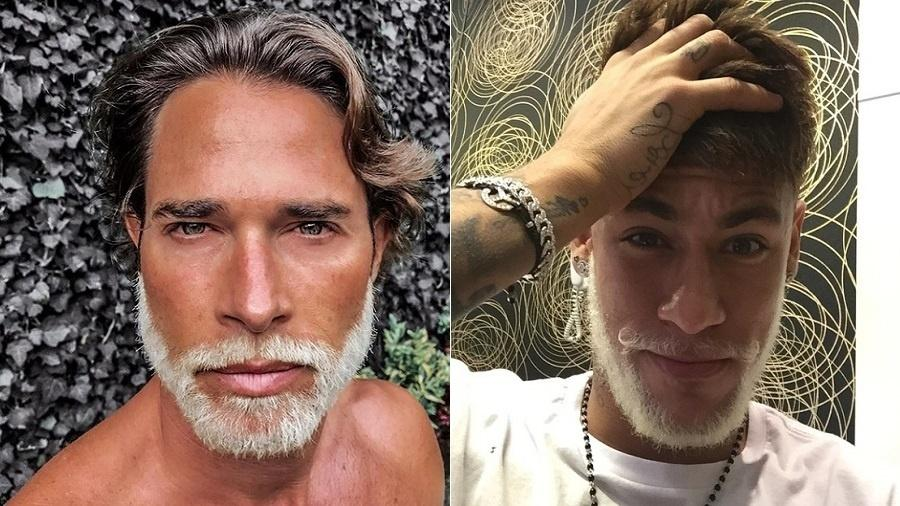 O ator Sebastian Rulli, que criticou Neymar na Copa, adota barba loira já usada pelo jogador - Montagem/UOL/Reprodução/Instagram