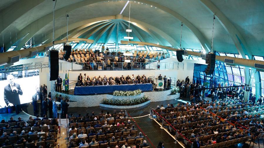 Presidente Michel Temer participa de Convenção Nacional das Assembleias de Deus, em Brasília - Walterson Rosa/Folhapress
