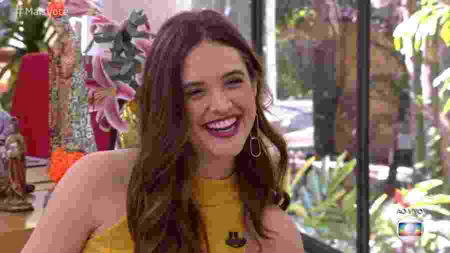 """Juliana Paiva no """"Mais Você"""" - Reprodução/Globo"""