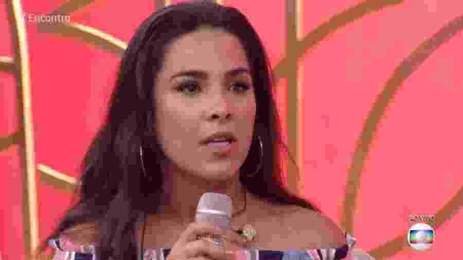 """Wanessa no """"Encontro"""" - Reprodução/Globo"""