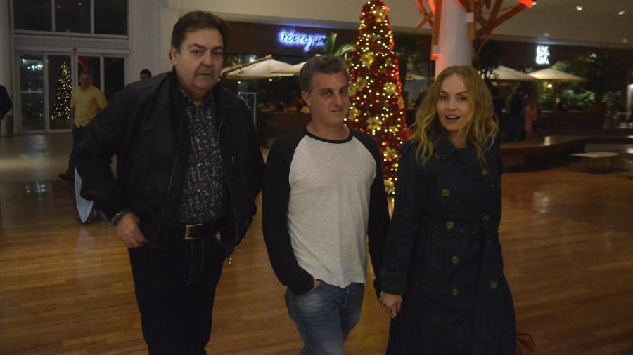 Faustão, Luciano Huck e Angélica - Webert Belicio/AgNews