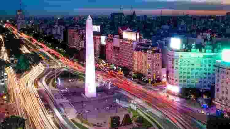 Avenida 9 de Julio e Obelisco, em Buenos Aires - diegograndiqGetty Images/iStockphoto