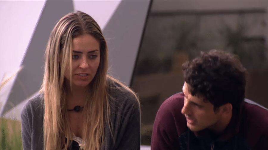 Paula discute com Maycon na casa - Reprodução/GloboPlay
