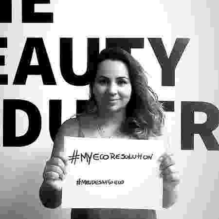 Patrícia Lima apoiando o desafio #myecoresolution, criado pela modelo e atriz Cara Delevingne - Reprodução/Instagram