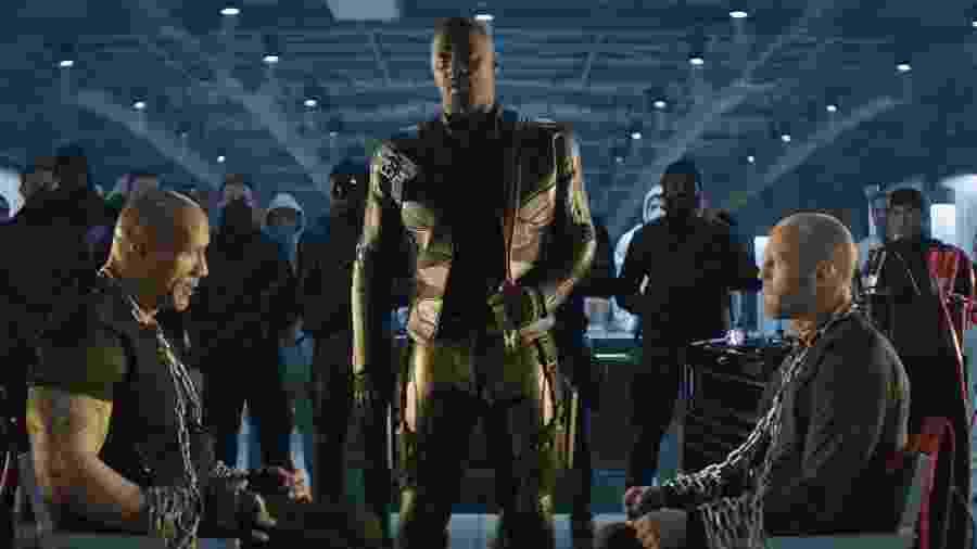 Idris Elba interpreta o vilão Brixton em Velozes & Furiosos: Hobbs & Shaw - Divulgação