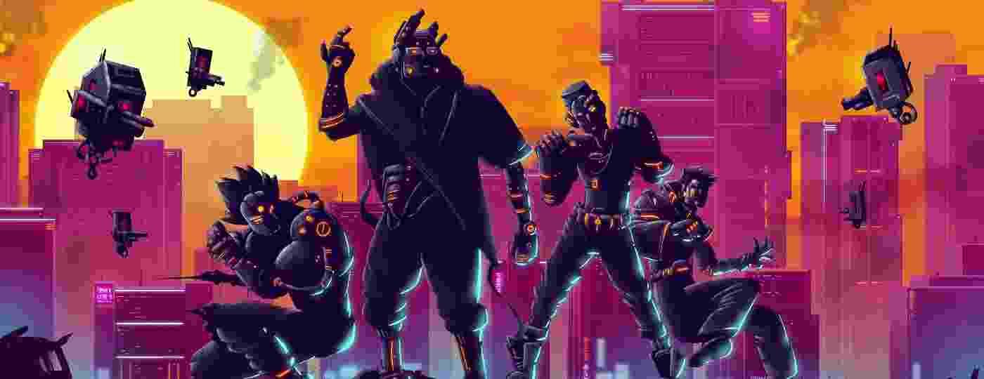"""Black Future """"88 tem robôs, explosões e muito neon - Divulgação"""