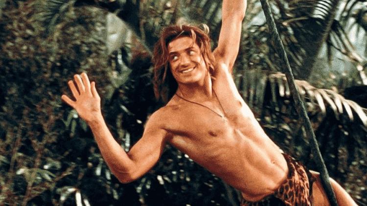 Brendan Fraser em cena de George, o Rei da Floresta - Reprodução - Reprodução
