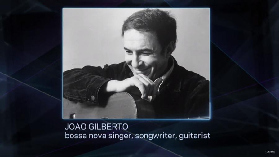 João Gilberto foi homenageado no Grammy 2020 ao som de Desafinado - Reprodução/YouTube