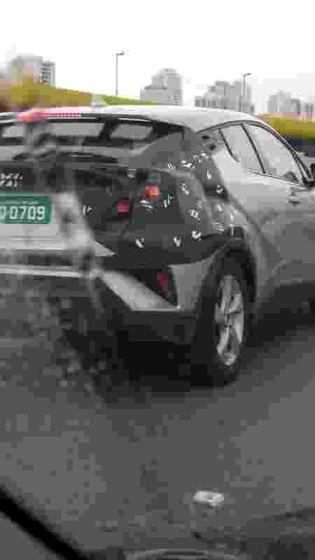 Flagra Toyota CH-R mula novo SUV compacto testes segredo traseira - Reproducão - Reproducão