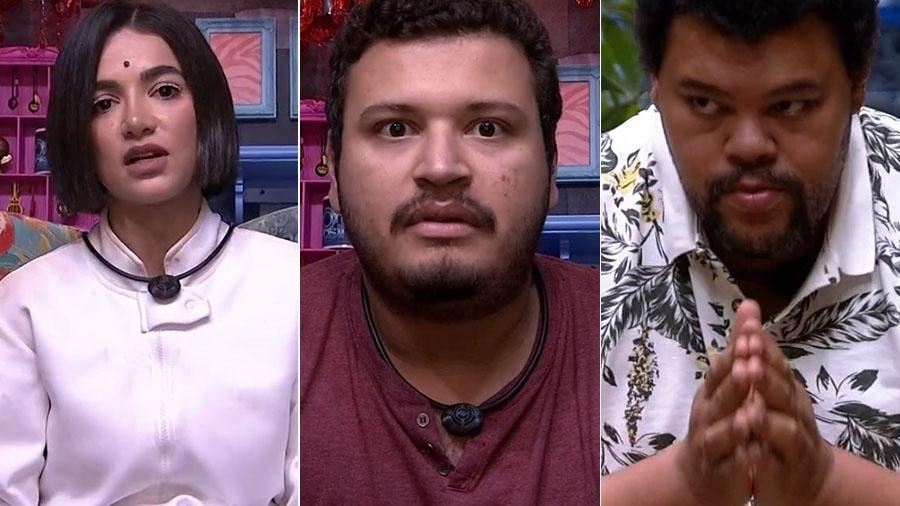 Manu, Victor Hugo e Bau estão no sétimo paredão - Reprodução/TV Globo