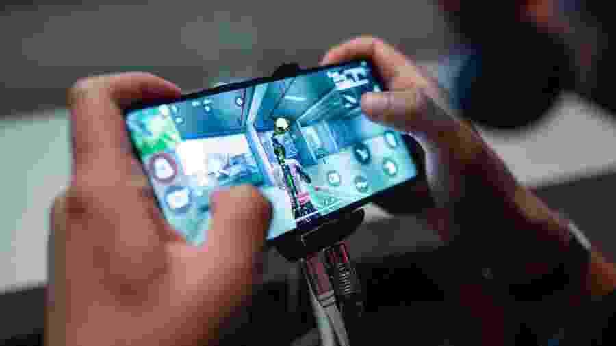 Versão Max de Free Fire promete gráficos melhores para celulares mais potentes; na foto, o Free Fire tradicional durante etapa da Liga Brasileira (LBFF) - Cesar Galeão/Garena