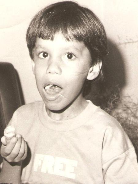 O pequeno Itamar Vieira Junior  - Acervo Pessoal