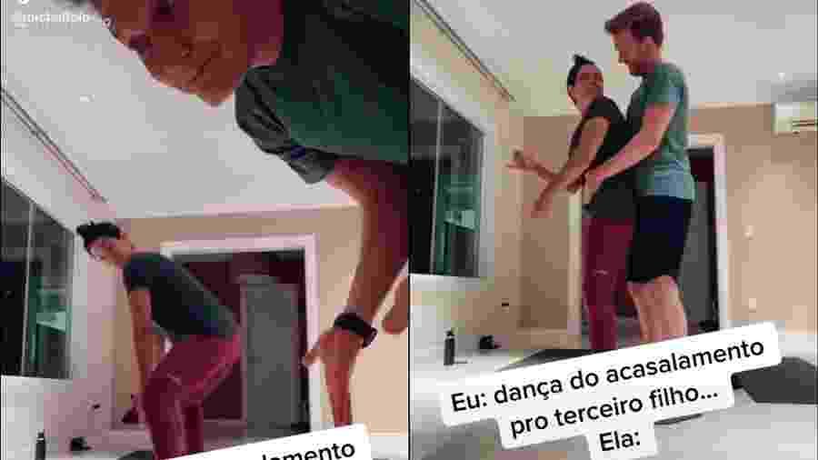 Michel Teló e Thais Fersoza divertem seguidores com brincadeira de casal - Reprodção/TikTok