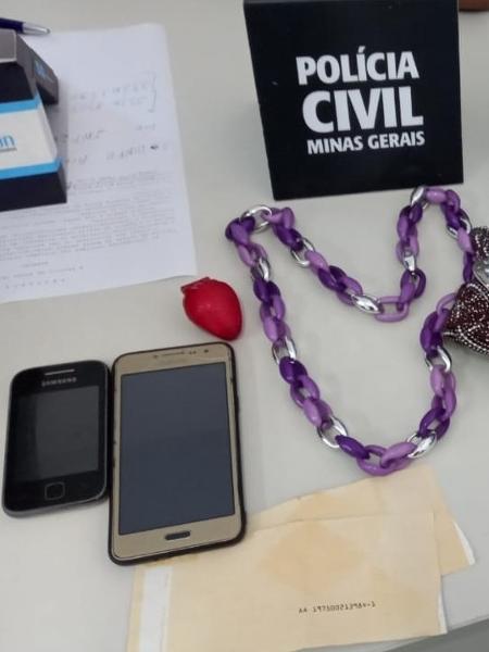 Policiais encontraram uma série de objetos de mulheres durante investigações, inclusive lista de possíveis vítimas - Polícia Civil de MG/Divulgação