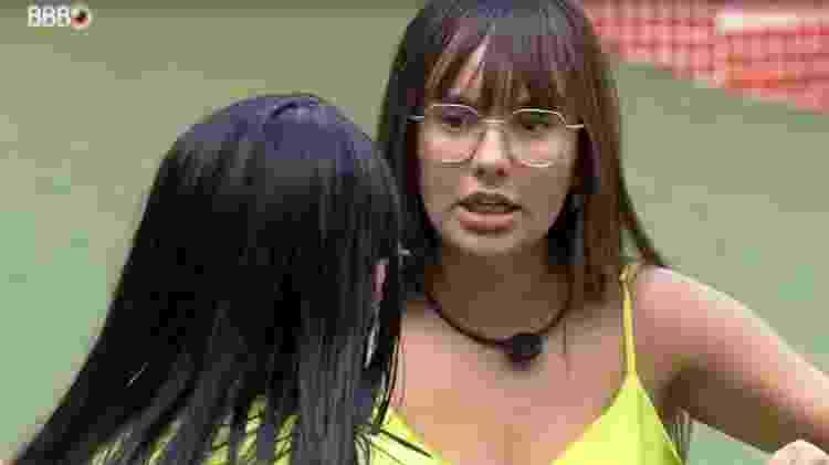 BBB 21: Thaís e Juliette discutem na área externa - Reprodução/ Globoplay - Reprodução/ Globoplay