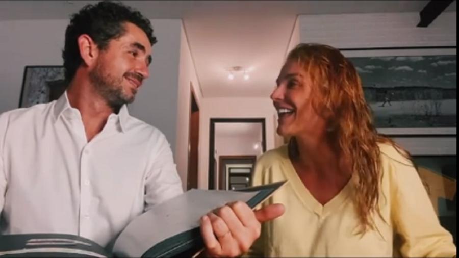 Rafa Brites conta a Felipe Andreoli que está grávida - Reprodução/Instagram
