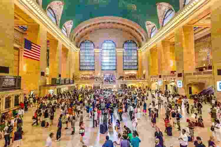 A famosa Grand Central Station, que liga metrôs e trens a ônibus pela cidade de Nova York - iStock/Getty Images - iStock/Getty Images