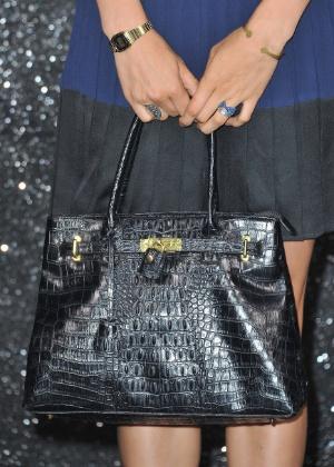 Nesta semana, Jane Birkin havia pedido que a Hermès retirasse seu nome da versão em pele de crocodilo da bolsa Birkin  - Getty Images