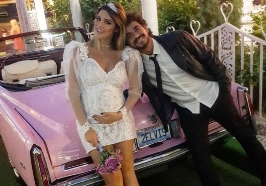 Rafa Brites e Felipe Andreoli renovam votos do casamento em Las Vegas