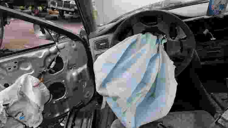 Honda Accord com airbags da Takata - Joe Raedle/AFP - 21.5.2015 - Joe Raedle/AFP - 21.5.2015