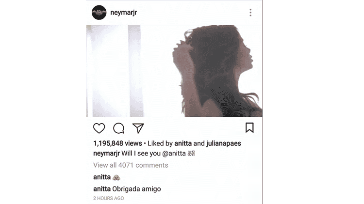 instagram anitta neymar - Reprodução/Instagram/@neymarjr - Reprodução/Instagram/@neymarjr