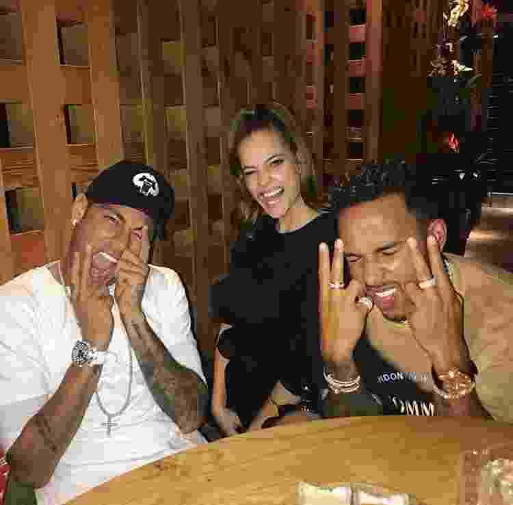 Neymar e Lewis Hamilton - Reprodução/Instagram