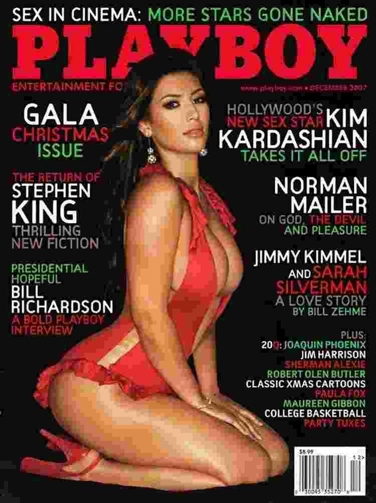 A socialite Kim Kardashian foi capa da Playboy em 2007 - Divulgação